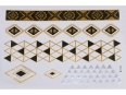 Gold Silver Black | Jewelry Flash Tattoo stickers W-123, 21x15cm