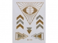 Gold Silver | Jewelry Flash Tattoo stickers W-194, 8x10cm