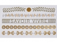 Gold Silver | Jewelry Flash Tattoo stickers X-011, 15x9cm