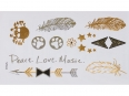 Gold Silver | Jewelry Flash Tattoo stickers X-012, 15x9cm