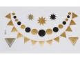 Gold Silver Black | Jewelry Flash Tattoo stickers X-008, 15x9cm