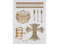 Gold Silver | Jewelry Flash Tattoo stickers W-203, 8x10cm