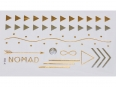 Gold Silver | Jewelry Flash Tattoo stickers X-005, 15x9cm