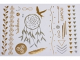 Gold Silver | Jewelry Flash Tattoo stickers W-140, 21x15cm