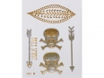 Gold Silver | Jewelry Flash Tattoo stickers W-204, 8x10cm