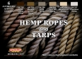 Kit aerografo di colori camouflage LifeColor CS28 Hemp ropes and Tarps