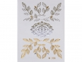 Gold Silver | Jewelry Flash Tattoo stickers W-208, 8x10cm
